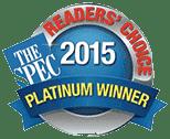 Readers' Choice - Platinum Winner 2015